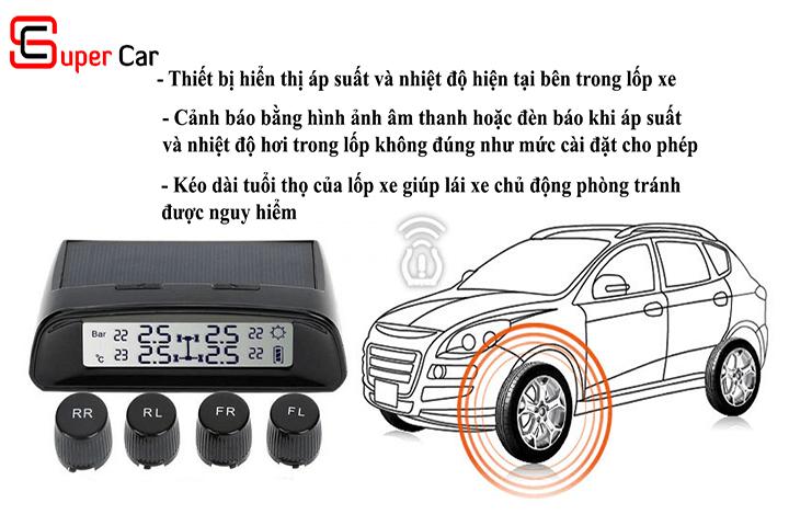 Tính năng cảm biến áp suất lốp TW401