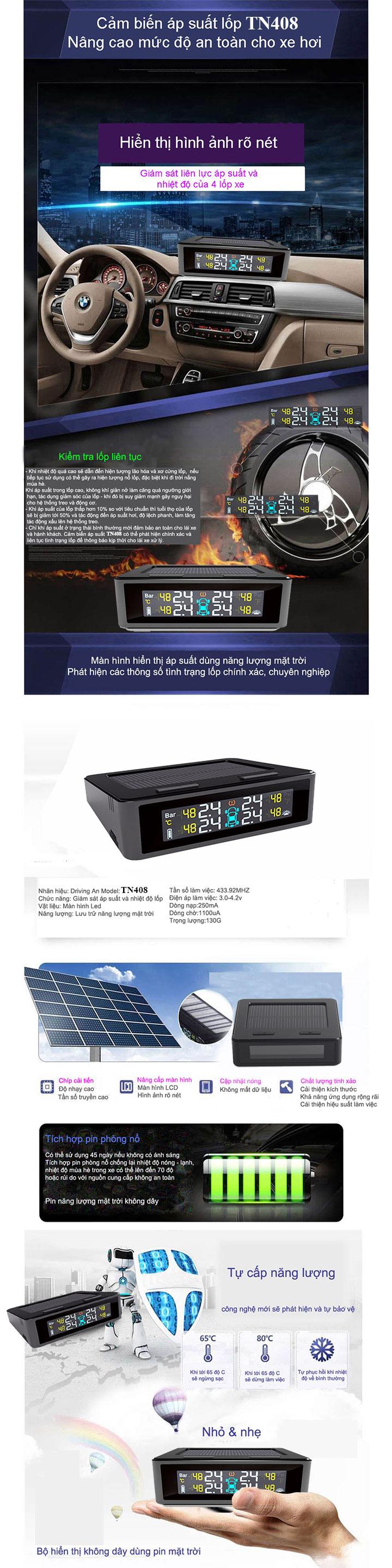 Thông tin sản phẩm cảm biến áp suất lốp TN408