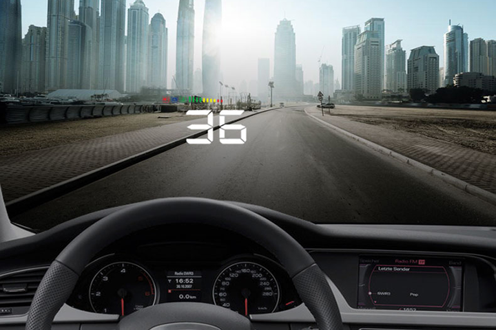 Màn hình hiển thị tốc độ trên kính lái HUD A500