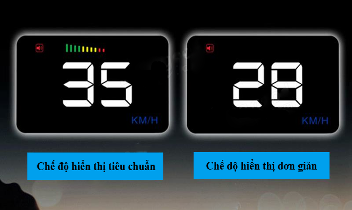 HUD A500 có hai chế độ hiển thị tiêu chuẩn và đơn giản
