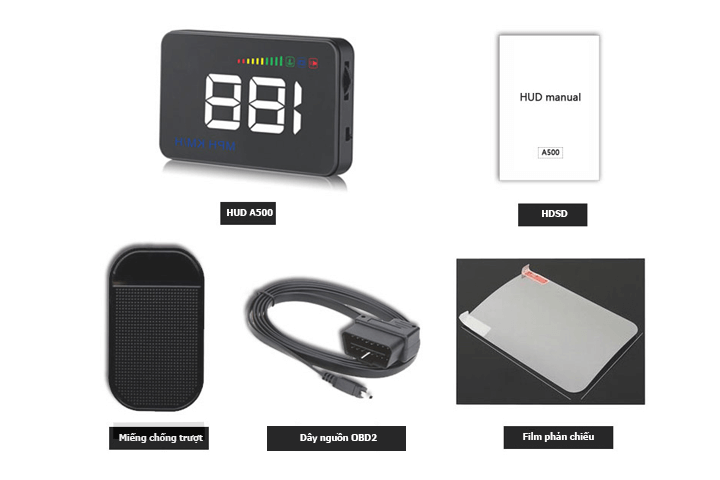 Trọn bộ sản phẩm HUD A500