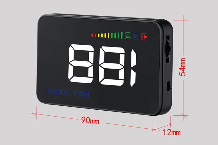 Kích thước màn hình hiển thị HUD A500