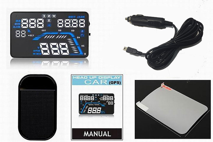 Trọn bộ thiết bị hiển thị tốc độ HUD Q7