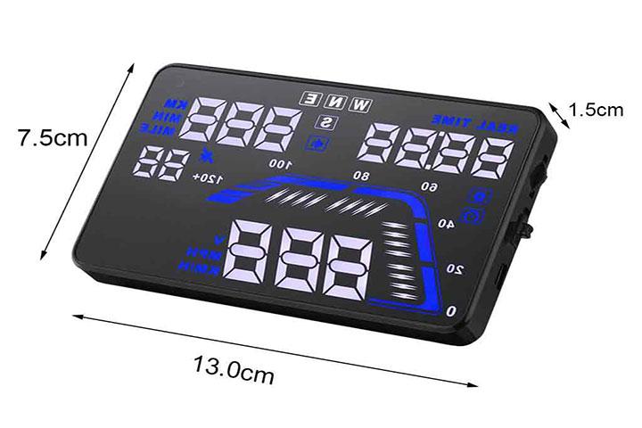 Kích thước màn hình hiển thị của HUD Q7