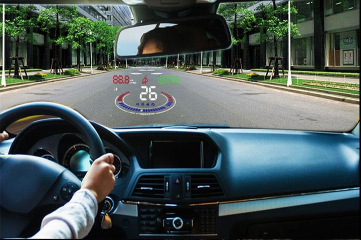 Hiển thị tốc độ trên kính lái HUD E300