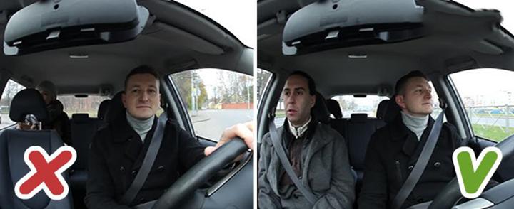Vị trí ngồi thích hợp trên xe ô tô