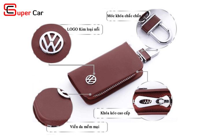 Bao da chìa khóa ô tô có logo hãng xe 2