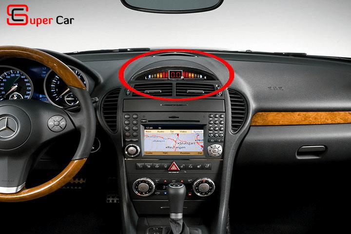 Màn hình hiển thị khoảng cách cảm biến lùi 4 mắt cho xe ô tô