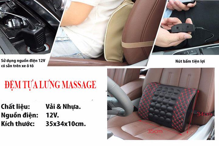 Đặc điểm đệm tựa lưng Massage