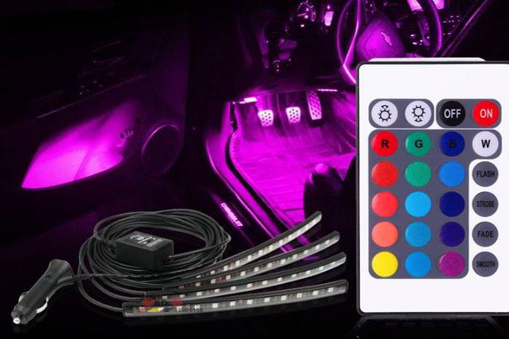 Đèn Led gầm đổi màu nội thất ô tô