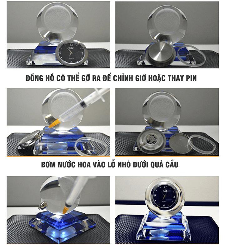 Hướng dẫn sử dụng nước hoa đồng hồ