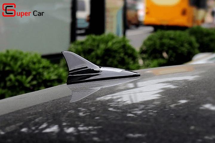 Vây cá mập ô tô có đèn Led năng lượng mặt trời
