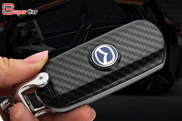 Bao da chìa khóa cacbon cho xe Mazda