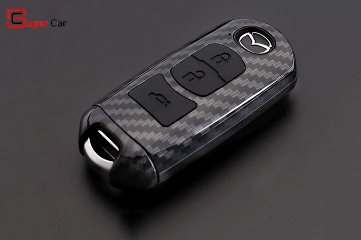Bao da chìa khóa cacbon cho xe Mazda 1