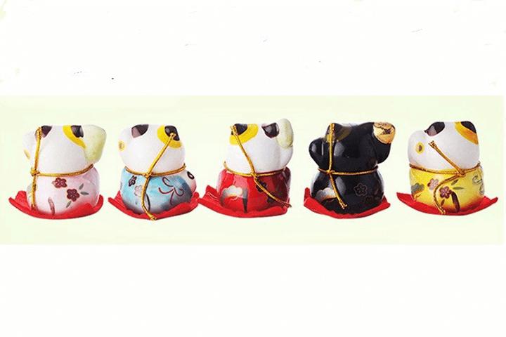 Bộ tượng ngũ mèo thần tài 7