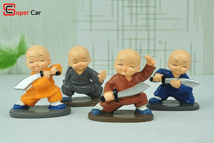 Bộ tượng 4 chú tiểu múa đao 1