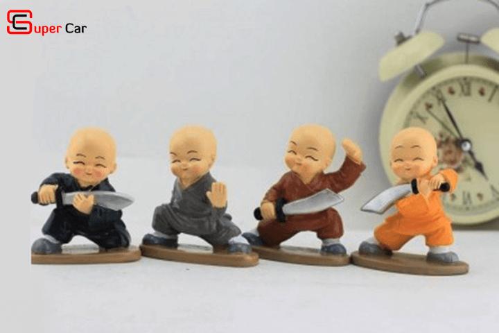 Bộ tượng 4 chú tiểu múa đao 4