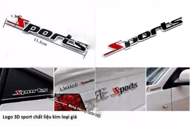 Chữ nổi Sports 3D kim loại 2