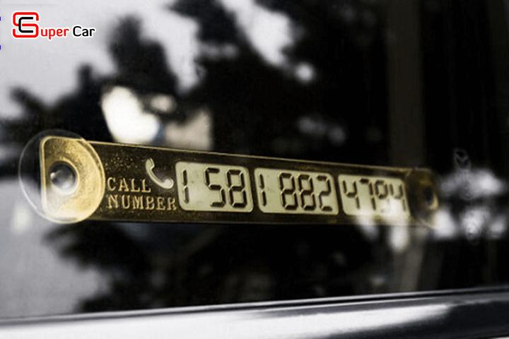 Bảng số điện thoại gắn taplo ô tô