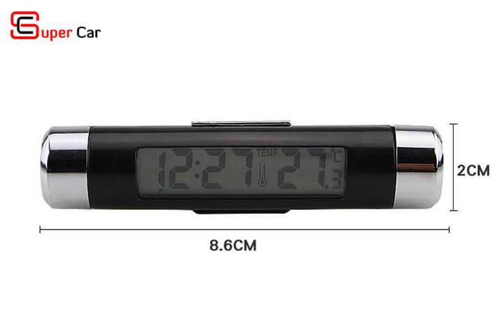 Đồng hồ nhiệt kế gắn xe hơi 3