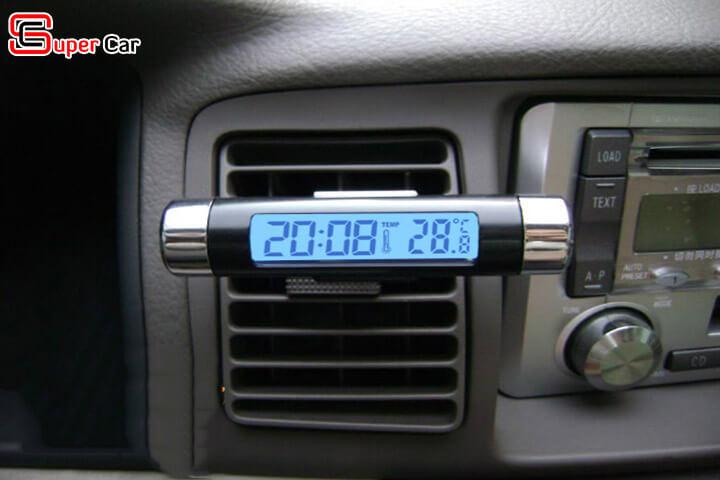 Đồng hồ nhiệt kế gắn xe hơi 1