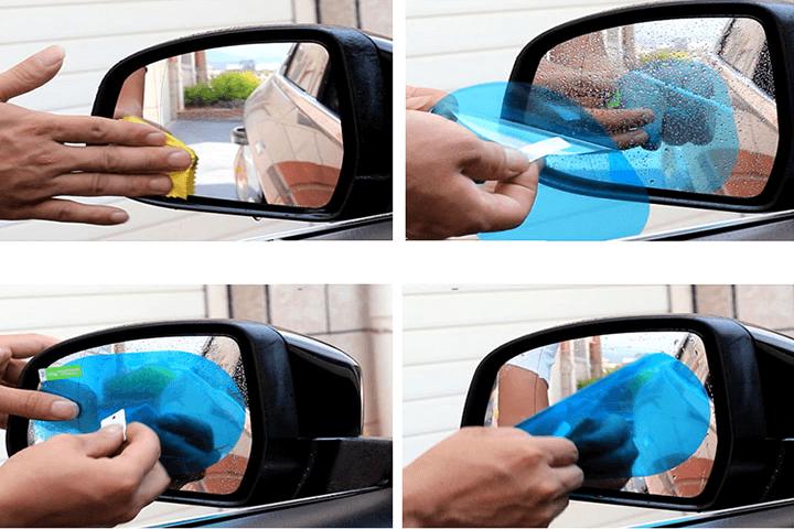 Miếng dán chống đọng nước gương chiếu hậu ô tô 2