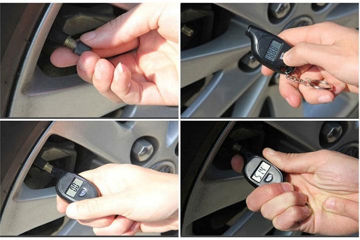 Móc khóa đo áp suất lốp