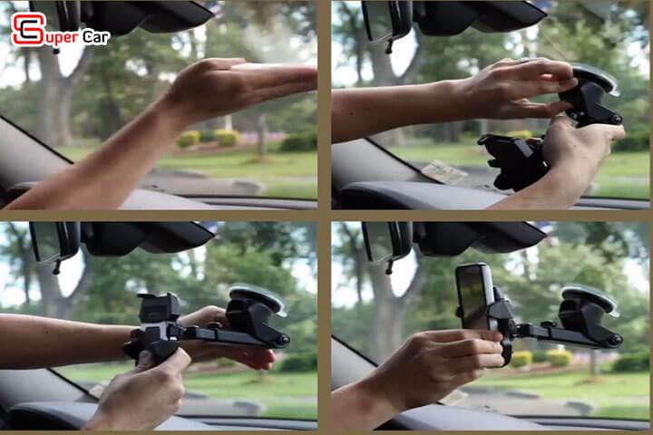 Giá đỡ điện thoại trên xe ô tô 6