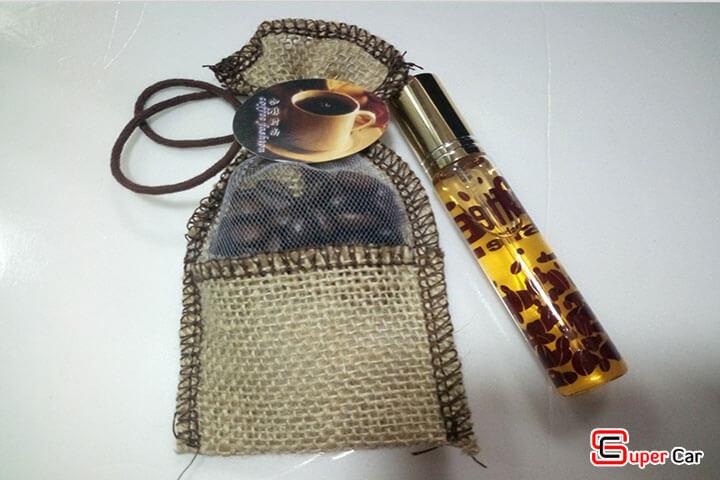 Túi thơm treo xe kèm tinh dầu hương cafe Hazelnut 4
