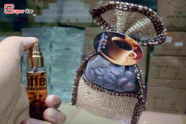 Túi thơm treo xe kèm tinh dầu hương cafe Hazelnut 3