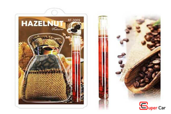 Túi thơm treo xe kèm tinh dầu hương cafe Hazelnut 2