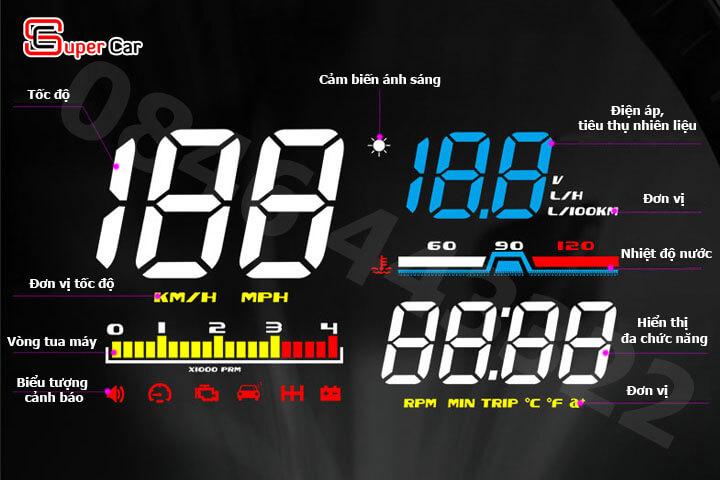 Hiển thị tốc độ HUD D5000 -2