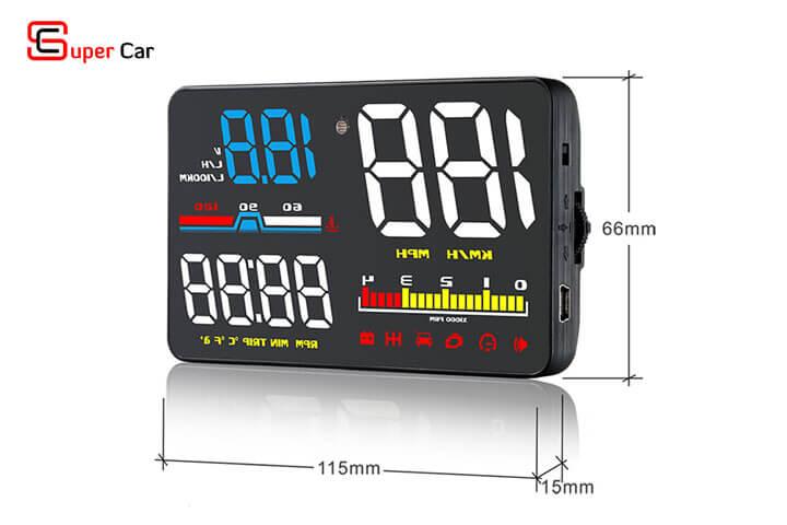 Hiển thị tốc độ HUD D5000 -11