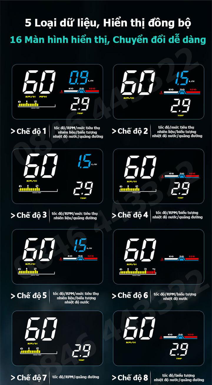 Hiển thị tốc độ HUD D5000 -3