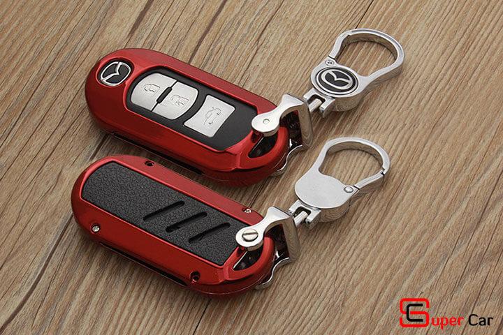 Ốp chìa khóa kim loại cho xe Mazda