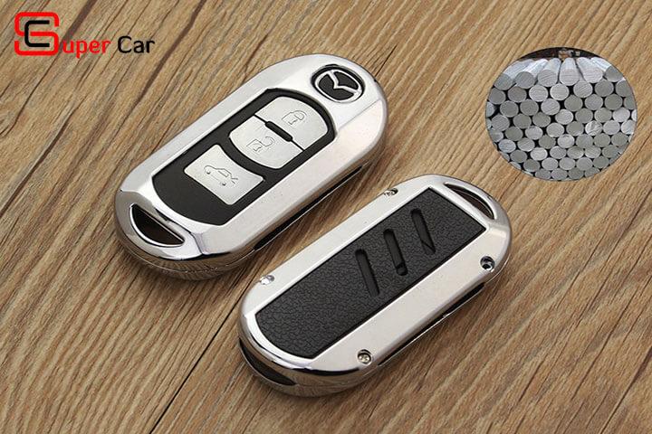 Ốp chìa khóa kim loại cho xe Mazda 3