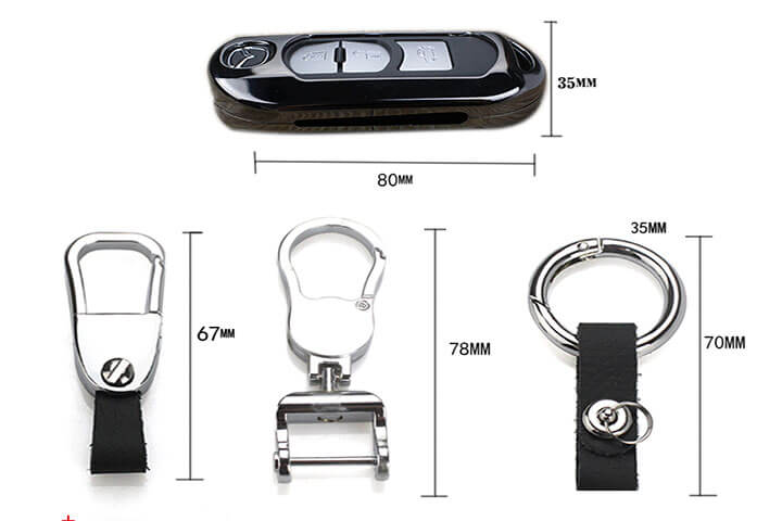 Ốp chìa khóa kim loại cho xe Mazda 2