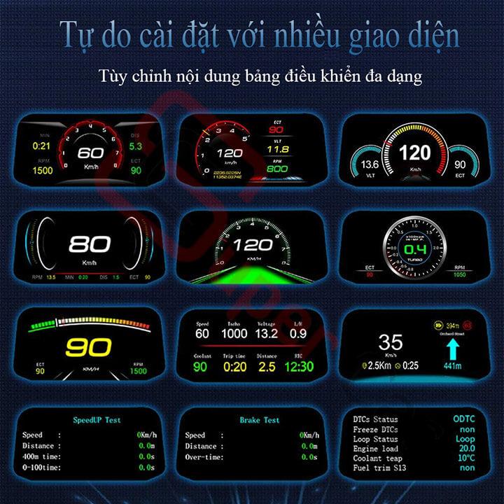 Hiển thị tốc độ trên kính lái HUD C3 2