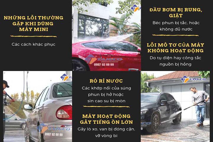 Máy rửa xe ô tô mini công suất lớn 5