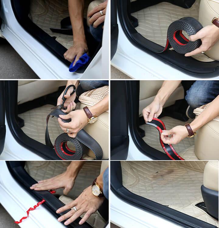 Nẹp carbon chống trầy xước xe ô tô 4