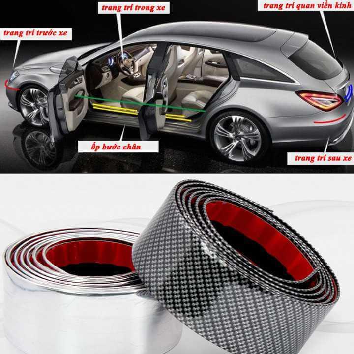Nẹp carbon chống trầy xước xe ô tô 5