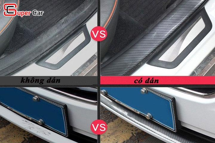 Nẹp carbon chống trầy xước xe ô tô 1