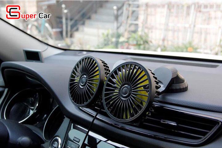 Quạt đôi mini trên xe ô tô