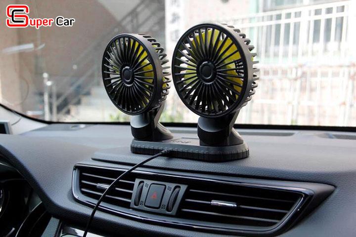 Quạt đôi mini trên xe ô tô 1