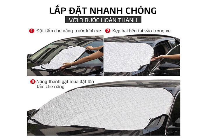 Tấm che nắng kính lái ô tô 4